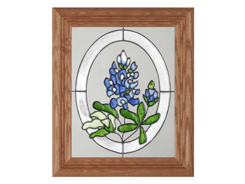 Texas Bluebonnets - Hand Painted Glass Art