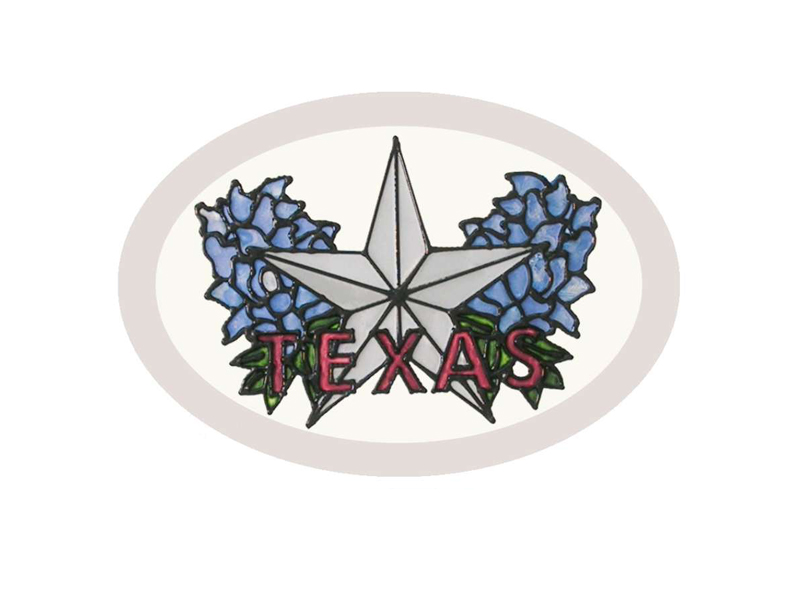 Hand Painted Glass Art - Texas Lone Star Suncatcher