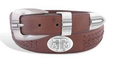 Aggie BOLPT Braided Brown Leather Belt - Texas A&M
