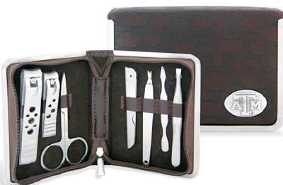 7 Piece Texas Aggie Manicure Set with ATM Concho