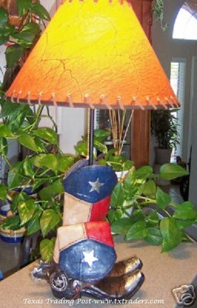 Texas Flag Boot Lamp