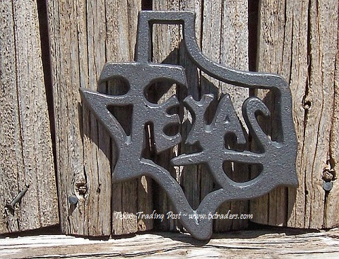 Texas Shaped Cast Iron Trivet