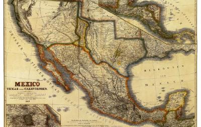 1800 Texas Map