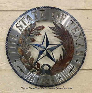 Texas Metal Art The State Seal Of Texas 1845
