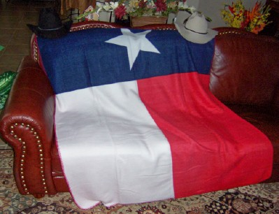Texas Flag Polar Fleece Blanket - Texas Flag Blanket