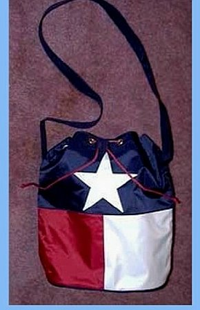 Purse-Texas Flag Drawstring