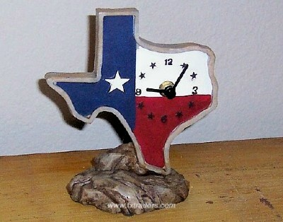 Texas Shaped Desk Clock