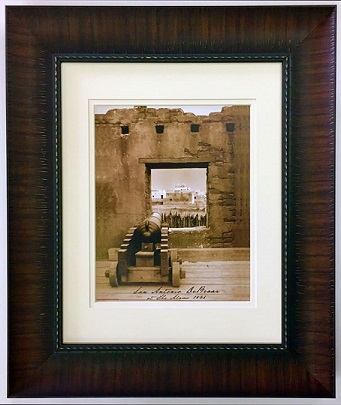 Cannon at the Alamo - Looking Out Framed Print