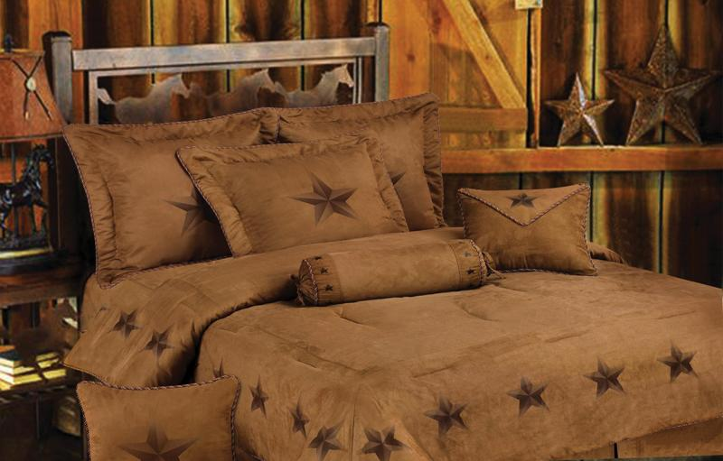 Rustic Lone Star 7 Piece Texas Comforter/Bed Set - SKing