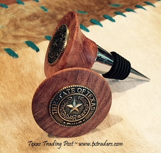 Texas Wine Stopper - Texas State Seal Concho