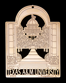 "2005 Texas A&M Collector's Ornament -""View Through Albritton Tower"""