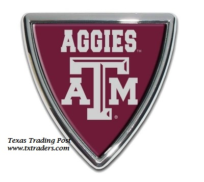Car or Truck Auto Emblem - Texas A&M Shield