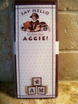 "Baby  Announcement-""Say Hello To Our New Aggie"""