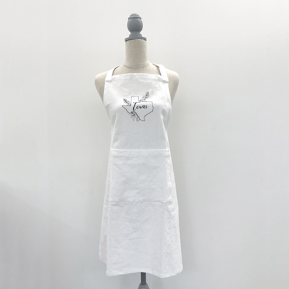 Embroidered Texas Flour Sack Apron
