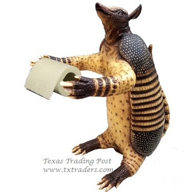 Armadillo Toilet Paper Holder for your Texas Bathroom