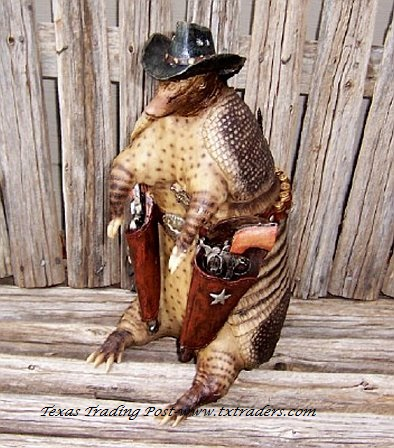 Texas Piggy Bank - Texas Size Armadillo Sheriff Bank