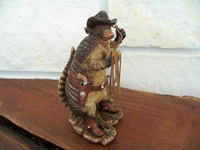 Armadillo Sheriff with Lariat Texas Figurine
