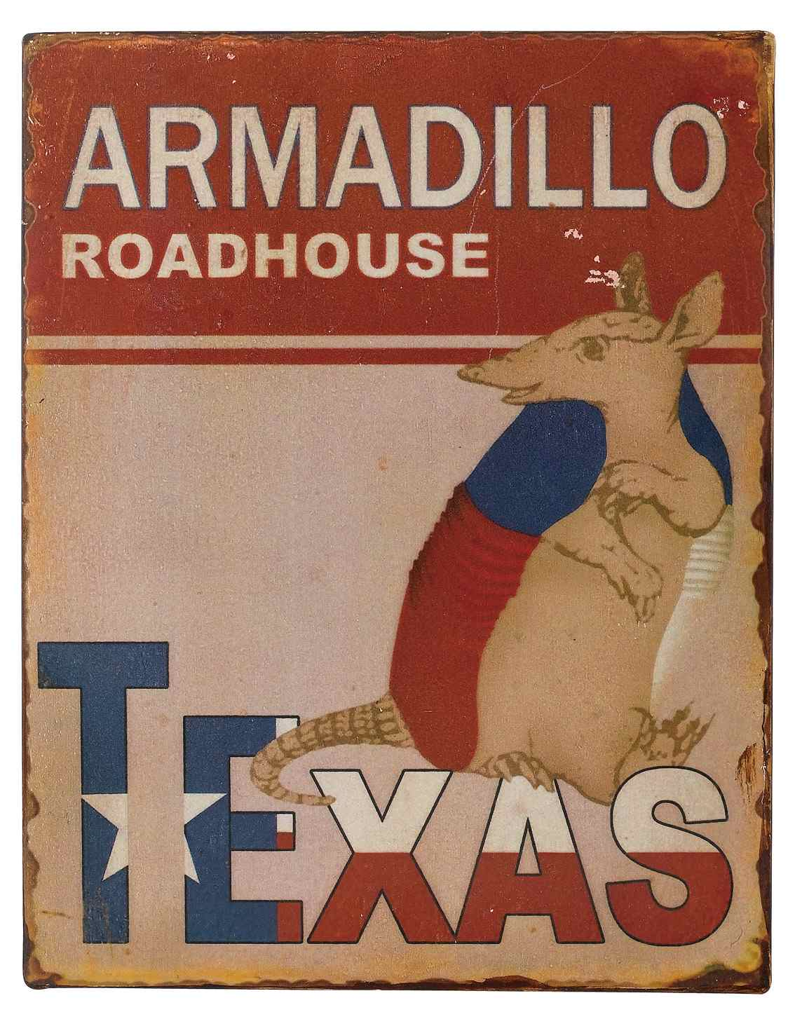 Texas Sign - Armadillo Roadhouse