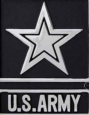 "Car or Truck Auto Emblem - United States ""Army of One"""