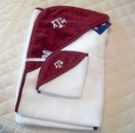 Baby Texas Aggie Hooded Towel Bath Set