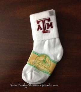 Baby Aggie Socks for your favorite little Aggie-Unisex
