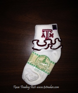 Baby Aggie Ruffled Socks for your favorite little Aggie