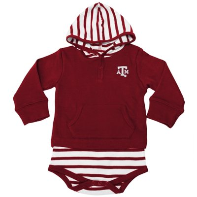 Baby Texas Aggie One-Piece Set with Hoodie