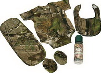 Five Piece Camo Baby One-Piece Set