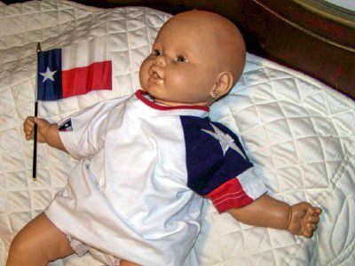 Texas T-Shirt For Babies with the Texas Flag - Toddlers