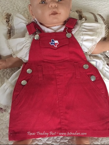 Baby Red Jumper with Embroidered Map of Texas