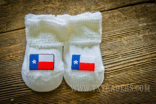 Baby Booties with the embroidered Texas Flag