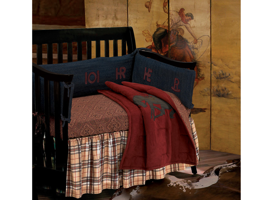 Texas Baby Wrangler Crib and Sheet Set