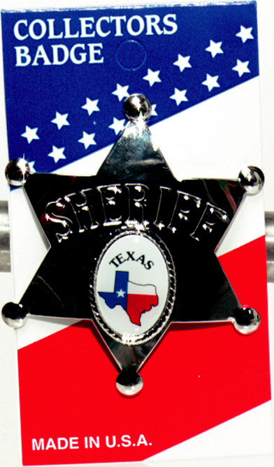 Badge - Texas Sheriff's Badge - Perfect for your Little Sheriff!