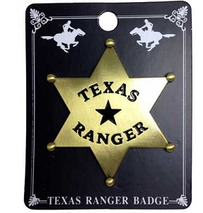 Badge - Texas Ranger Badge - Perfect for your Little Ranger!