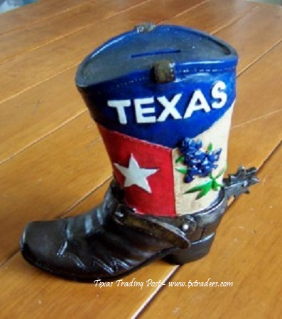 Texas Boot Piggy Bank
