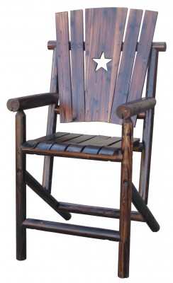 Texas Bar Stool with the Texas Lone Star