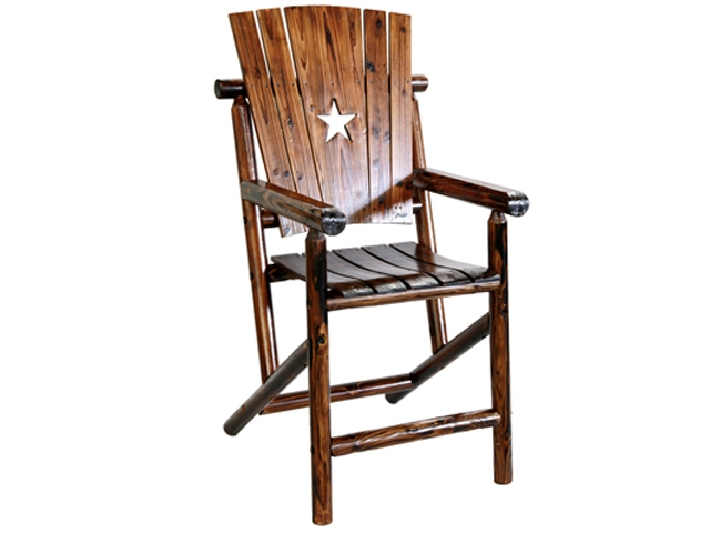 Texas Bar Arm Chair with the Texas Lone Star