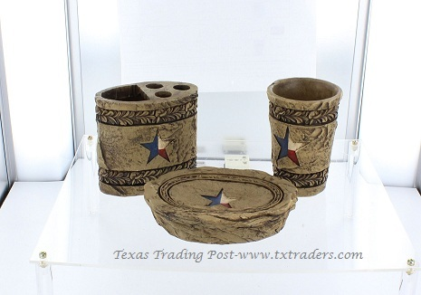 3 Piece Texas Bathroom Accessories Set