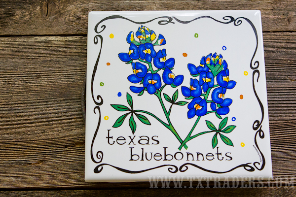 Ceramic Texas Bluebonnet Trivet