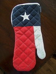 BBQ Mitt in the Texas Flag
