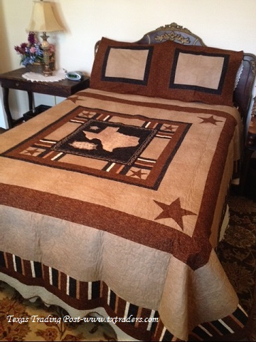 Texas Quilt and Pillow Shams-Made in Texas by a Texan!