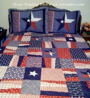 Texas Lone Star Quilt/Bedding with Pillow Shams - King