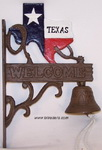 Cast Iron Texas Welcome Patio Bell