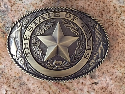 Buckle - El Grande Texas State Seal Buckle