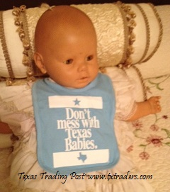 Baby Bib - Don't Mess with Texas Babies - Blue