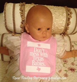 Baby Bib - Don't Mess with Texas Babies - Pink