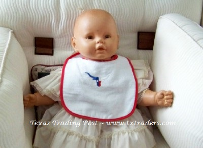 Baby Bib with Embroidered Texas Longhorn