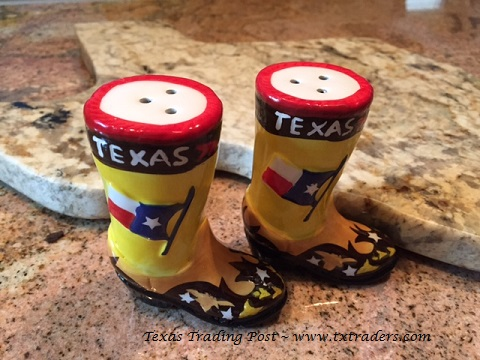 Texas Boot Salt and Pepper Shakers