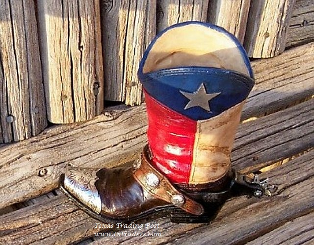 Texas Flag Boot Planter - Perfect for Texas Silk Flowers