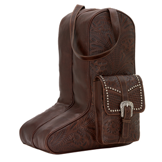 American West Leather Boot Bag - Stampede Collection